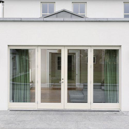 Aluminium Clad Cream Bifold Doors