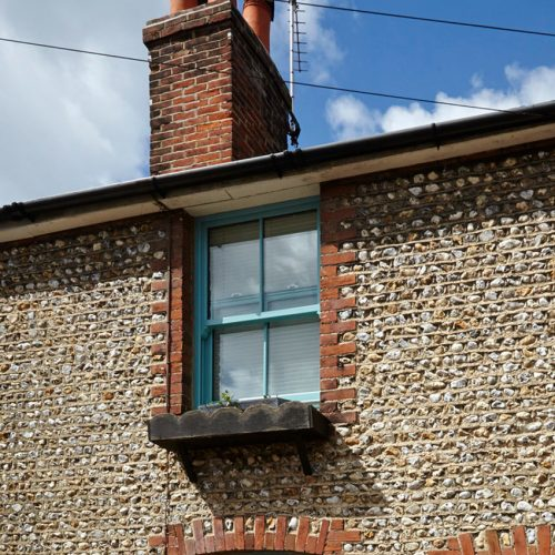 Coloured Sash Windows in Cornwall