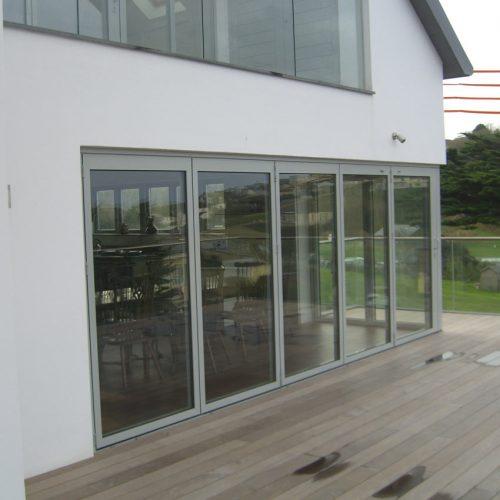 Grey Aluminium Clad Bifold Doors