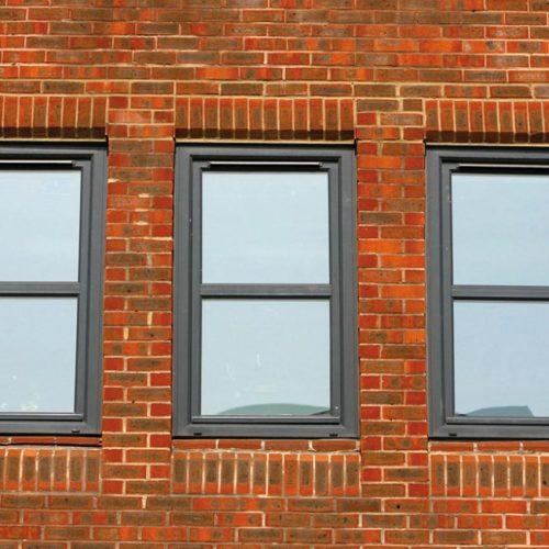 Grey PVC Tilt and Turn Windows