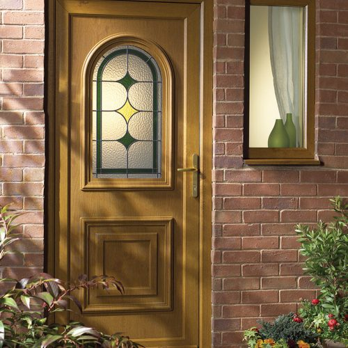 Irish Oak PVC Door