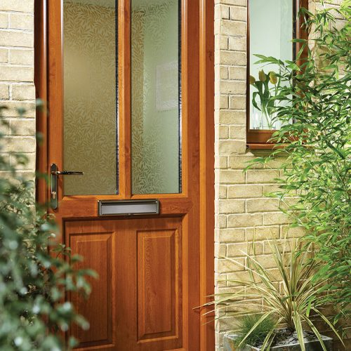 Oak Effect Entrance Door