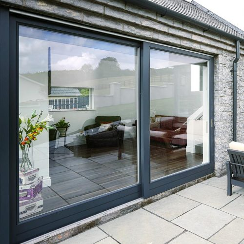 Rationel Black Patio Doors