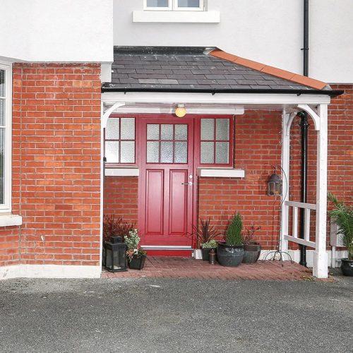 Red Rationel Composite Door