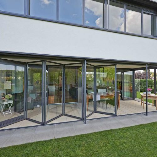 Solarlux Bifold Door Open