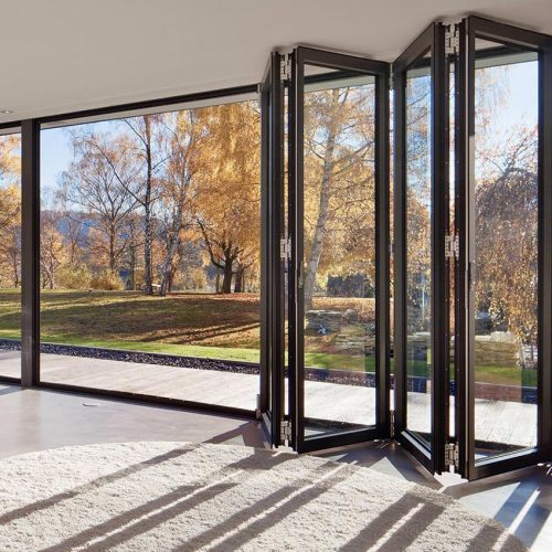Solarlux Black Composite Bifold Door