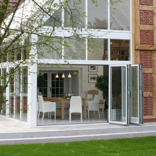 Solarlux White Composite Bifold Door