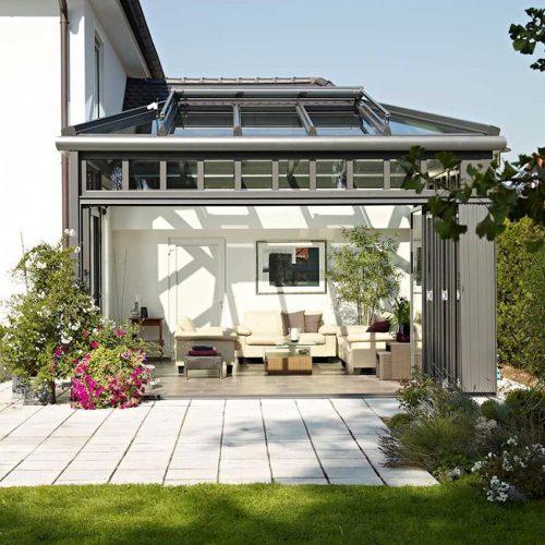 Solarlux grey Bifold Door