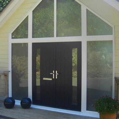 Solidor Dual Black Composite Door