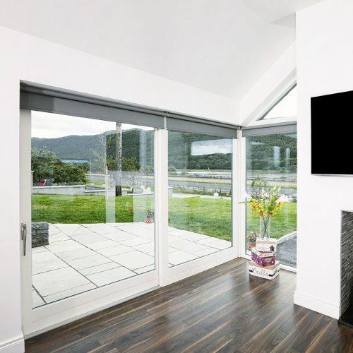 White Timber Patio Doors