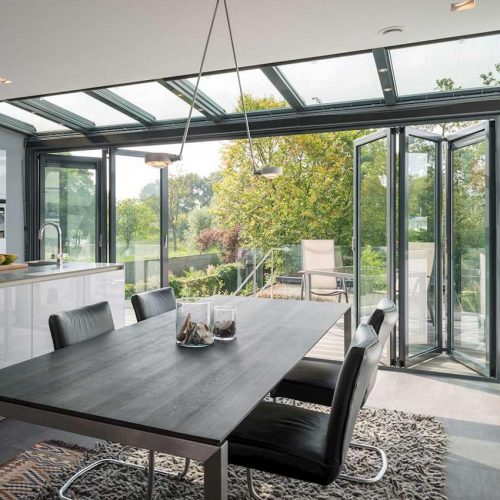 WinterGarden Grey Bifold Door