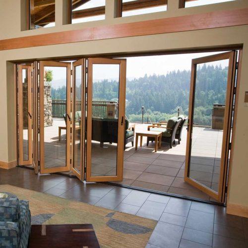 timber bifold door