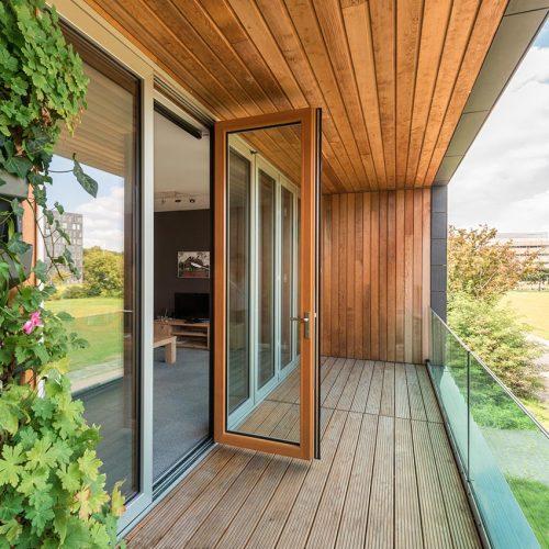 timber bifolding door