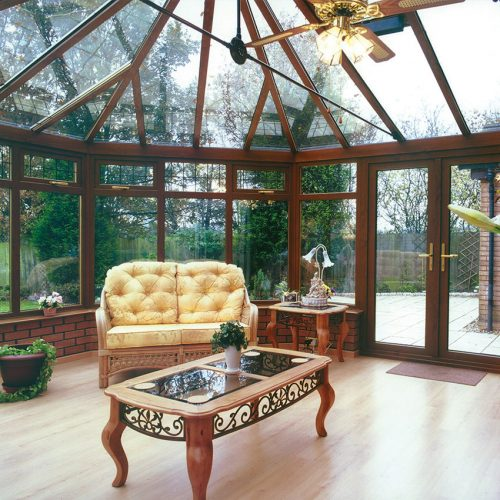 Timber Effect Conservatory Interior