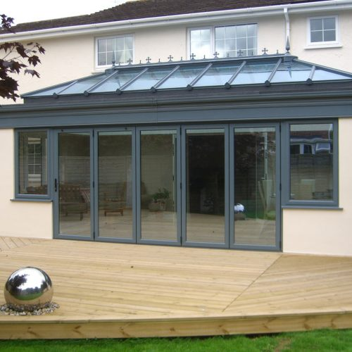 Orangery Bifold Door Closed