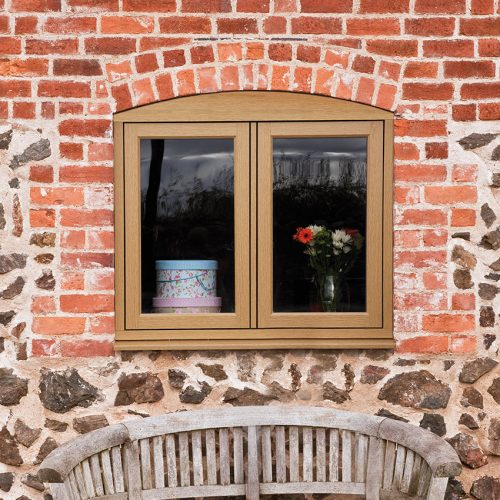 Timber Effect Flush Windows