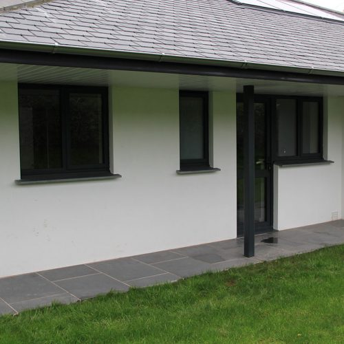 Black uPVC casement windows and doors