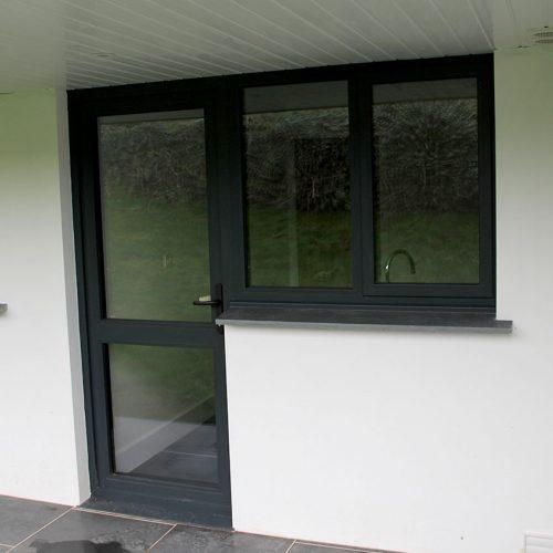 Black uPVC door and window