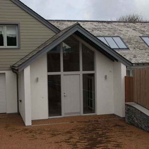 Grey composite door and windows