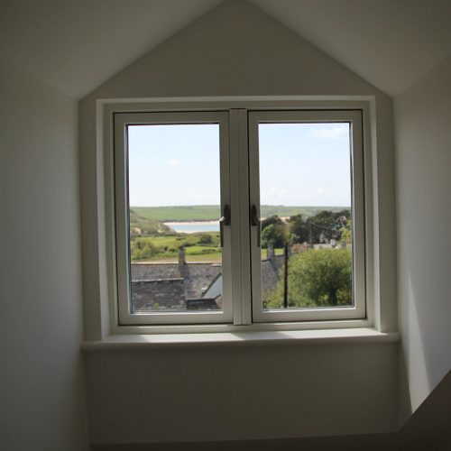 Cream Flush Sash uPVC Window