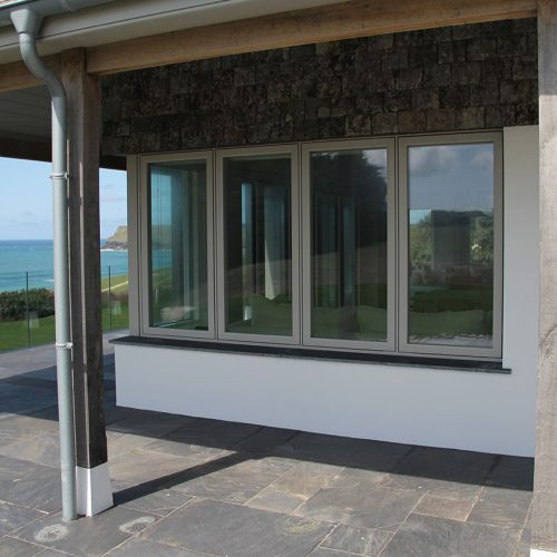 Grey Flush sash casement windows