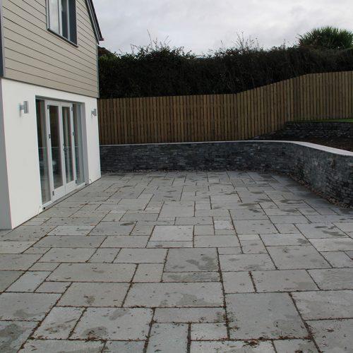 Garden patio installation