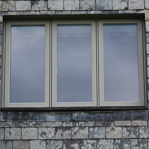 Green Flush Sash uPVC Window