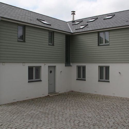 Flush sash grey casement windows