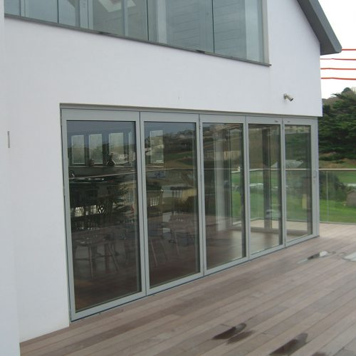 Grey aluminium Bifold door