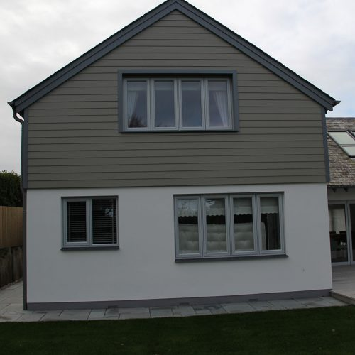 Grey Flush sash casement window installation