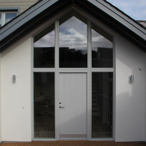 Grey composite door installation