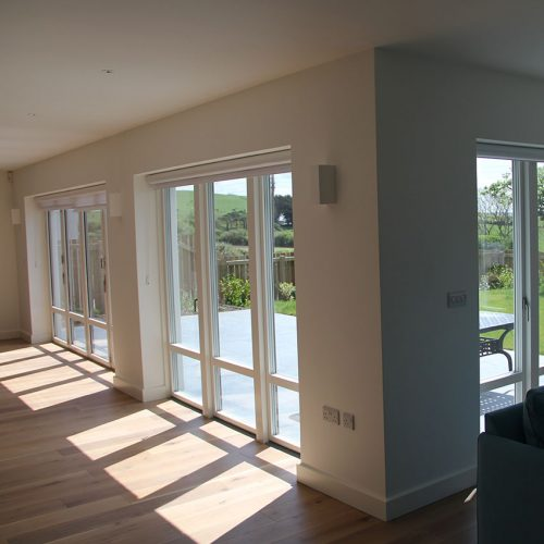 Interior cream uPVC Bifold Door