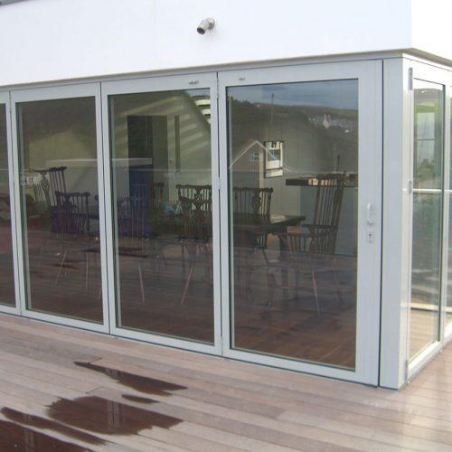 Grey aluminium Bifold door