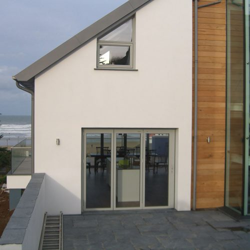 Grey aluminium Bifold door and windows