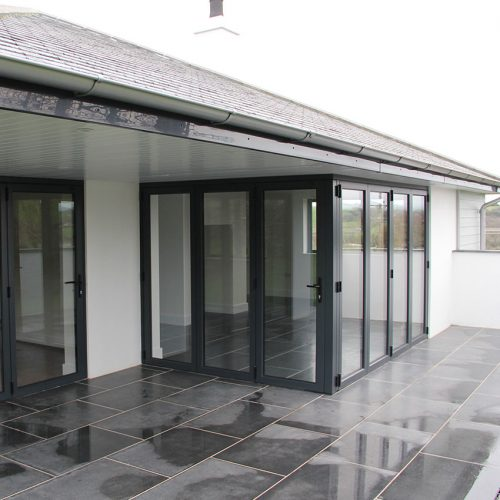 Black uPVC bifold door